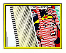 Reflections on Minerva A1 by Roy Lichtenstein High Quality Canvas Print
