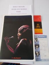 MARY WILSON JAPAN 1972 PROGRAMME & X2 TICKET