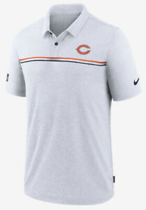 Chicago Bears Nike On Field Apparel White Golf Polo Mens Size Xl Authentic Sale