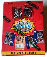 1991 FLEER UPDATE SERIES NBA B'B' 36 CT WAX BOX / POSSIBLE MICHAEL JORDAN CARDS