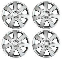 4 Radkappen 16 Zoll 85A Silber Carbon Radblende Stahlfelgen Schutz für Nissan