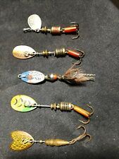 VINTAGE  MEPPS FISHING  LURES Spinners USED - LOT OF 5  TROUT LURES