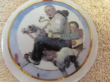 "Norman Rockwell 1997 Disc ""Gramps at the Reins"" Christmas Ornament for Jc Penney"