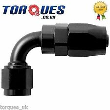 AN -20 (AN20 AN 20) 90 Degree Fast Flow Hose Fitting In Stealth Black
