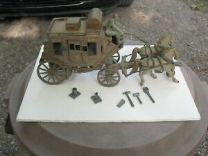 1950's Ideal Roy Rogers Fix-It Stagecoach Horses Driver Extra Wheels Accessories