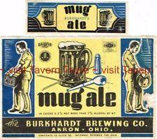 1940s Ohio Cleveland Burkhardt'S Mug Ale 12oz 3.2-7% Label Tavern Trove
