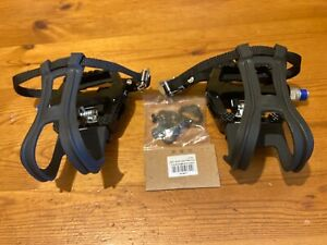 Wellgo WAM-D10 Pedals with Shimano-Type SPD Cleats, Flat Pedals with Toe Hooks