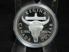 """Silbermünze 500er - Canada Dollar 1982 """"Regina/Elisabeth II"""" PP in Kapsel 6M9798"""