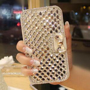 Premium White Bling Bowknot Crystal Diamond Wallet Flip Case For Samsung Note 7