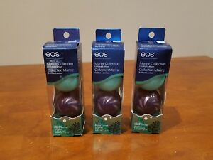 Lot of THREE 2-Packs EOS Marine Collection Limited Edition Lip Balm BRAND NEW