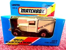 MATCHBOX  LIMITED EDITION 1981  MB 38  FORD MODEL A  [THE AUSTRALIAN] UNOPENED