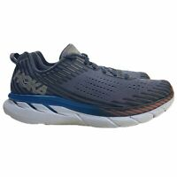 Hoka One One Clifton 5 Men's Running Shoes Frost Gray Ebony 1093755 FGEB Sz 10