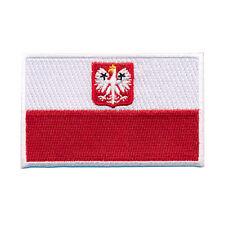 40 x 25 mm Polen Flagge Polska Poland Flag Patch Aufnäher Aufbügler 0660 A