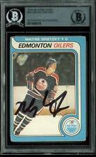 Oilers Wayne Gretzky Authentic Signed 1979 O-Pee-Chee #18 Auto Card BAS Slabbed