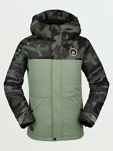 2021 NWT GIRLS VOLCOM SASS'N'FRASS INSULATED JACKET $150 M Dusty Green 2 layer