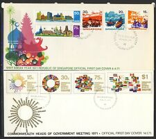 Singapore 6 first day covers from 1970-1 with special cancels