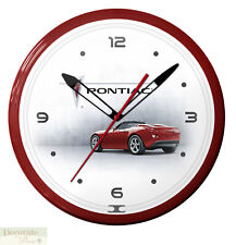 "Pontiac Solstice Red Neon 20"" Wall Clock Made in the Usa - 1 Year Warranty New"