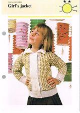 GIRL'S JACKET knitting pattern - Odhams pamphlet