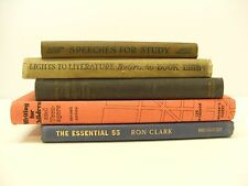 Lot 5 vintage Hardcover Books Teaching Learning Educational Writing Literature