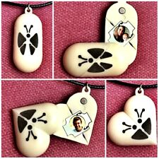 The Illusionist Necklace Locket Butterfly Pendant Necklace Photo Frame - cream