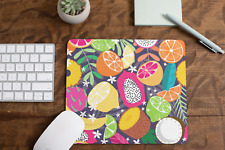 Multi Coloured Fruit Non Slip Mouse Mat / Mouse Pad