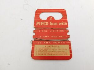 VINTAGE PIFCO FUSE WIRE ON A CARD 1950'S/60'S
