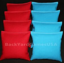 CORNHOLE BEAN BAGS Red & Turquoise 8 ACA Corn Hole Game Toss Bags Marshall Herd
