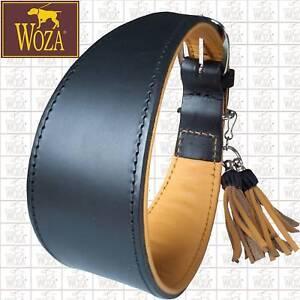 Premium Windhund Halsband Vollleder WOZA Greyhound Rindnappa Leder Collar G21367