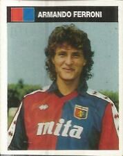 [AA] FIGURINA CAMPIONI & CAMPIONATO 1990/91-GENOA-FERRONI