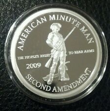 1oz .999 FINE SILVER Second AMENDMENT BILL OF RIGHTS Coin 2009 ART RARE guns 2nd
