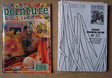 #) livre Peinture sur soie N° 50 H.S. +  4 planches dessins grandeur nature 1989