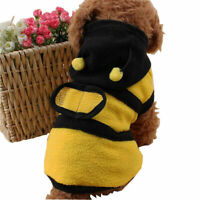 Hot Pet Dog Cat Puppy Warm Hoodie Coat Clothes Cute Bee T1Y5 Apparel X6W8