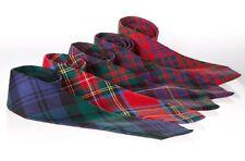 Caballeros Lazo del cuello en moderno Abercrombie Tartan Lana Peinada escocés hecho nuevos BNWT