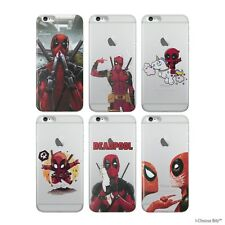 Deadpool Case/Cover Apple iPhone 5 5s SE 6 6s 7 8 Plus Screen Protector Silicone