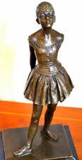 Bronzefigur-Junge Tänzerin in Bronze signiert Degas auf Marmorsockel