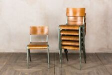 ESAVIAN CHAIRS STACKING CHAIRS 1940S STACKABLE SEATING VINTAGE INDUSTRIAL RETRO