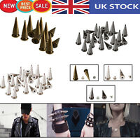 100pcs Punk Cone Spike Spot Stud Rivets 29mm x 10mm for DIY Leathercraft Clothes