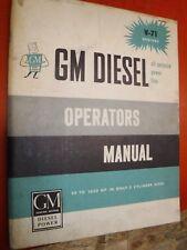 1959 GM SERIES V-71 DIESEL ENGINES ORIGINAL FACTORY OPERATORS MANUAL