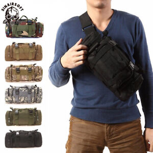 Hiking Military Tactical MOLLE Shoulder Bag Waist Pouch Pack Outdoor Camping Bag