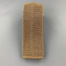 CHARVET Khaki Beige Silk Textured Knit Tie
