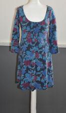 Mudd & Water Women's Casual Dress Tunic 3/4 Sleeve Size UK 10 Organic Cotton