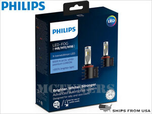 New Release PHILIPS X-treme Ultinon 6500K H8 H11 LED Fog lamps set 12794UNIX2