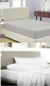 """SATIN 100% EGYPTIAN COTTON 400TC EXTRA DEEP FITTED SHEET 16"""" BOX 