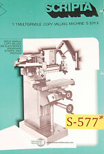 Scripta S 3011x Pantograph Copy Mill Instructions Parts And Wiring Manual