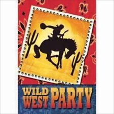 WESTERN Wild West INVITATIONS (8) ~ BIrthday Party Supplies Stationery Card Note