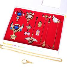 Cardcaptor Sakura Clow Card Magic Wand Pendant Necklace Cosplay Keychain Set 11