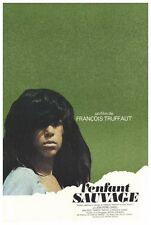 THE WILD CHILD Movie POSTER 27x40 French Jean-Pierre Cargol Francois Truffaut