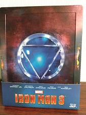 Iron Man 3 2D+3D Bluray Steelbook Embossed(Hong Kong Version)Region Free