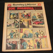 1950 Sunday Mirror Weekly Comic Section April 23rd (Vf) Superman Action Baseball