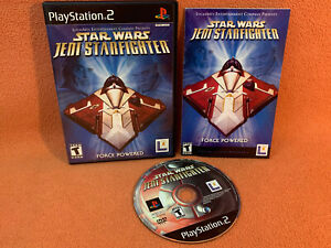 Star Wars Jedi Starfighter Sony PlayStation 2 PS2 Game Complete!